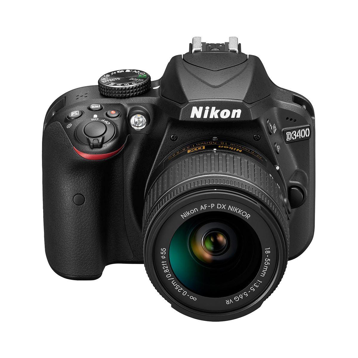 Camara Nikon D3400 C/ Af-P 18-55 Mm