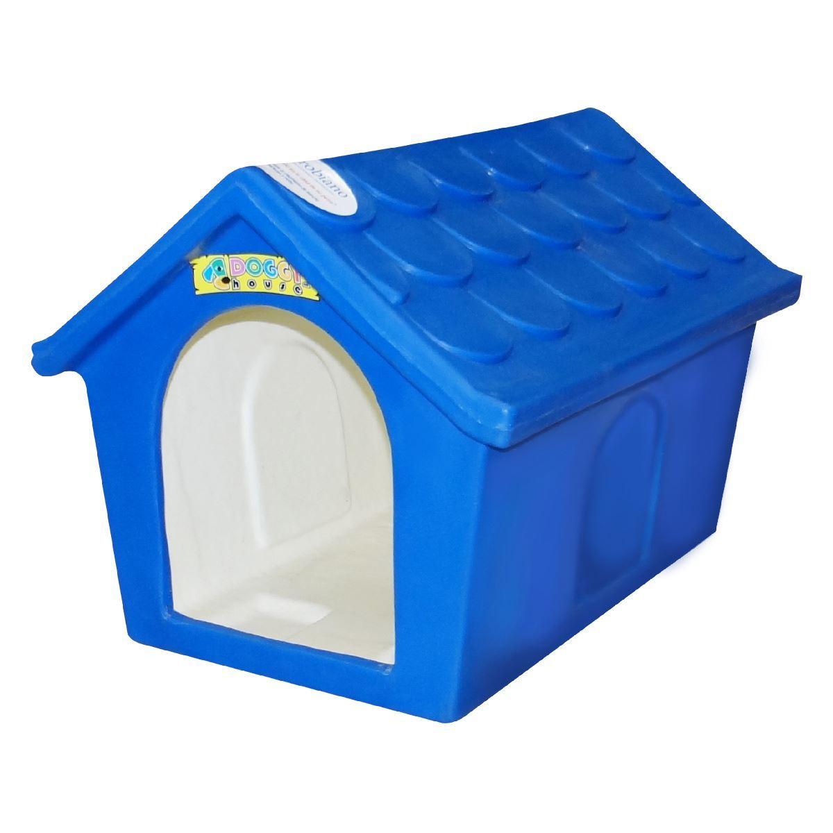 Casa para perro clasica peque a doggy house azul for Casa piscitelli musica clasica